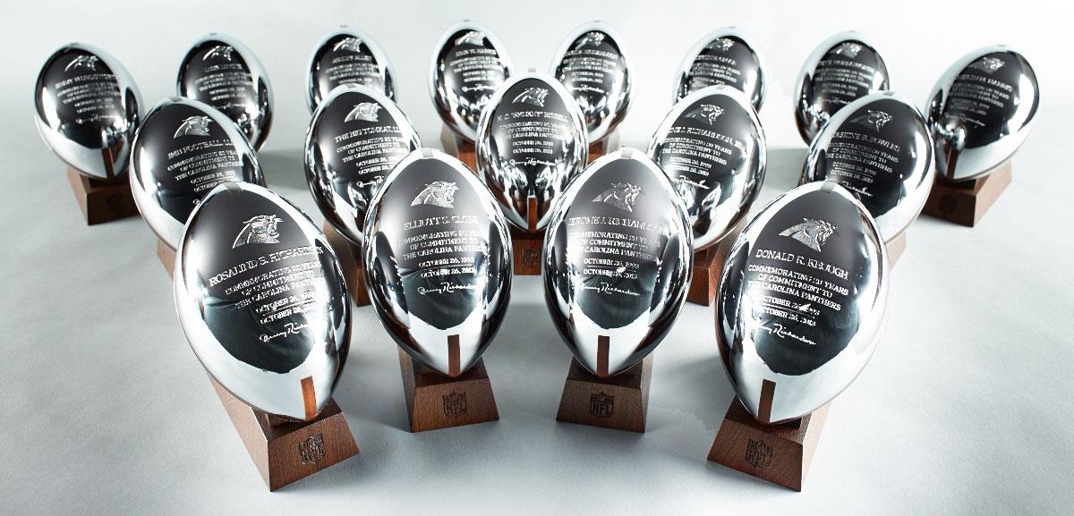 NFL Carolina Panthers Trophies