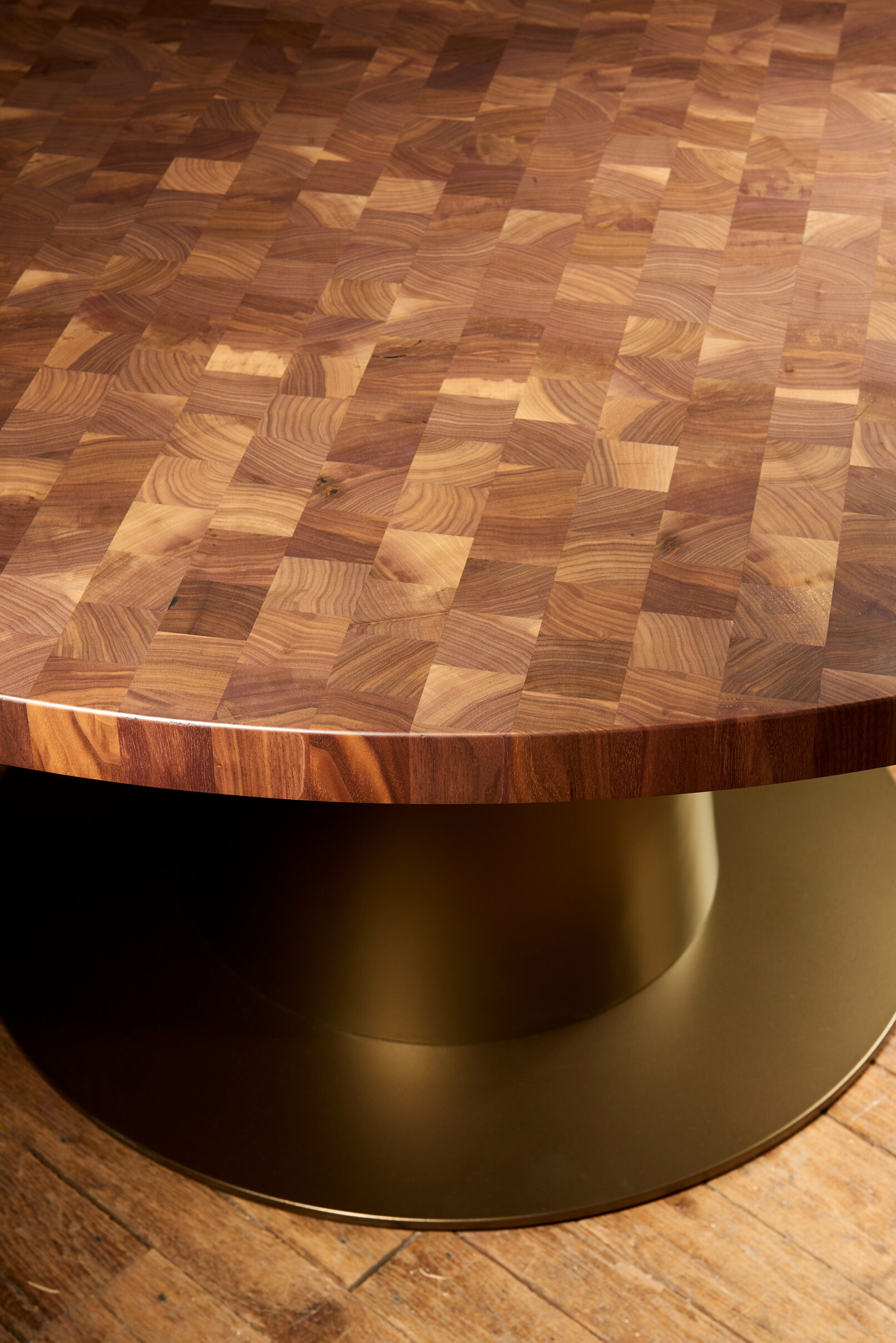 union square cafe black walnut end grain table detail mark white